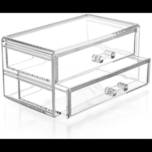 Cosmetic drawer acrylic clear holder vanity makeup
